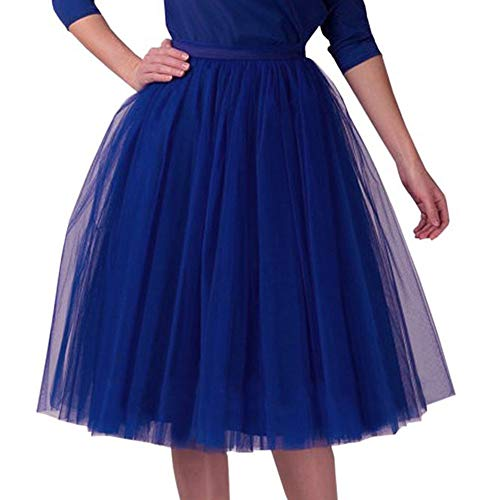 ITISME Tutu Petticoat Vintage Partykleid Unterkleid Damen Falten Gaze Kurzer Rock Erwachsene Abendkleid Zubehör Damen Plissee knielangen Rock