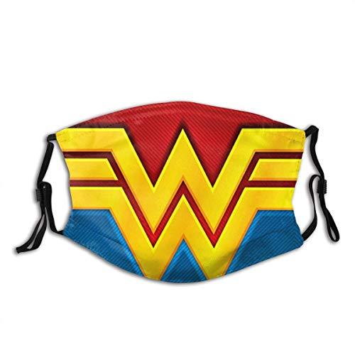 Wonder-Women Mundschutz Custom Design Mode Anti Staubschutz Verstellbarer Gesichtsschutz Wiederverwendbarer Schal 1 Stck