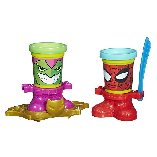 Playdoh Marvel Can-Heads - Spider-Man & Green Goblin