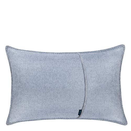 Soft-Wool-Kissenbezug – mit Häkelstich – weiche, hochwertige Sofa-Kissenhülle aus Naturmaterialien – 30x50 cm – 505 powder blue – von 'zoeppritz since 1828'