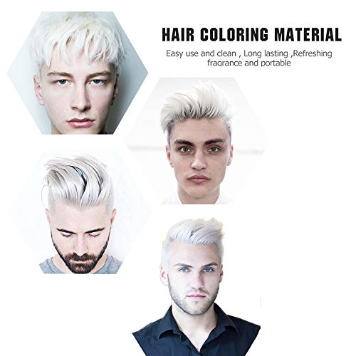 MOFAJANG 6 Colors Temporary Hair Dye Wax – 6 in 1 White Sliver Blue Purple Red Gold – Natural Matte Hairstyle Fashion DIY Hair for Party, Cosplay