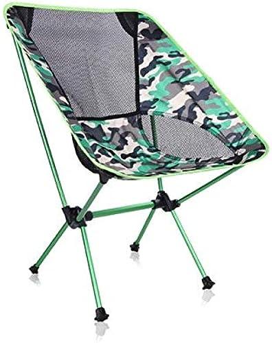 WFHGFDF Chaise Pliante Chaises De Pêche Siège Pliant Backrest Chaise Portable Camouflage Cloth Oxford Beach Chaise sur pour Le Jardin De Randonnée De Camping en Plein Air Armée Verte