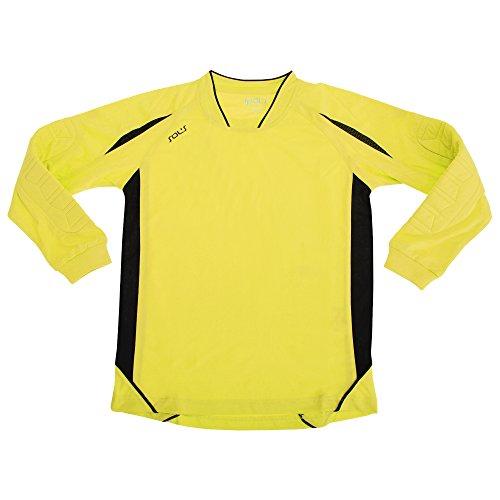Sols Kinder Azteca Sport-Shirt/Torwart-Shirt/Fußball-Trikot, langärmlig (6-8 Jahre) (Zitrone/Schwarz)