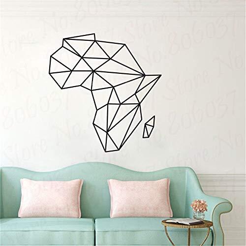 wZUN Wandaufkleber Wandbild Schlafzimmer Geometrische Karte Schlafzimmer Abnehmbarer Vinylaufkleber 46X50cm