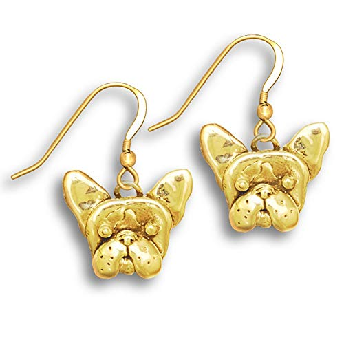 14k Gold French Bulldog Earrings by The Magic Zoo