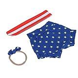 Conjunto de Ropa, Lindo patrón de Estrella con Lazo, Ropa para niña, para Vacaciones, para Maquillaje, para fotografía(American Stars, 100cm)