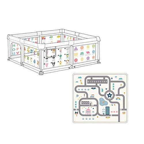 Vitila 39 sq ft GrünZaun Baby mit Atmungsaktivem Netz,4 eckig Indoor Trampolin Kinder für 0-6 Jahre Altes Baby