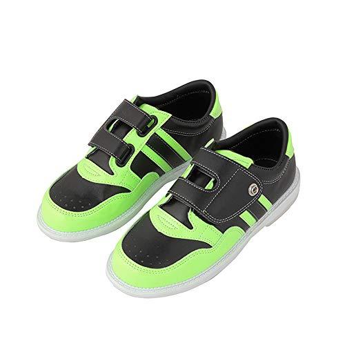 Bowling-Schuhe, Profi Leder Bowling Sneaker Non-Slip Atmungsaktiv Bowls Schuhe Für Damen Jugend Kinder Jungen Und Mädchen Frauen,36