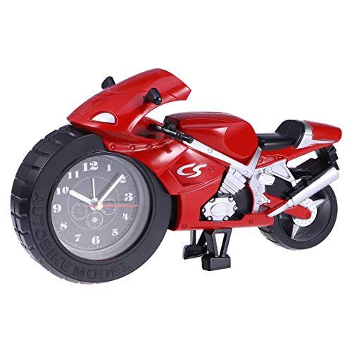 VOSAREA Wecker Motorrad Modell einzigartiges Geschenk für Motorliebhaber nach Hause Kinderzimmer Dekor