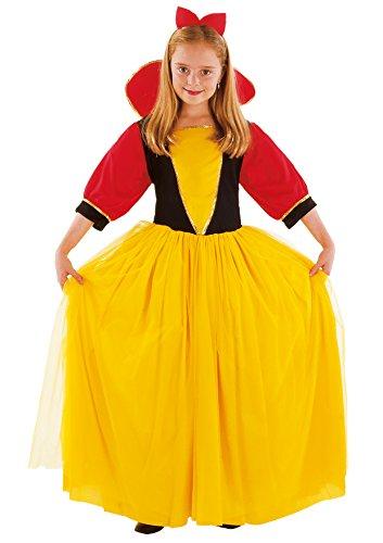 Bloemen Paolo – sneeuwwitje kostuum meisjes M (5-7 anni) geel