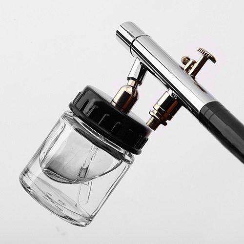 ガラスカップタイプエアーブラシ 【三方良し】 ダブルアクショントリガー ノズル0.3mm