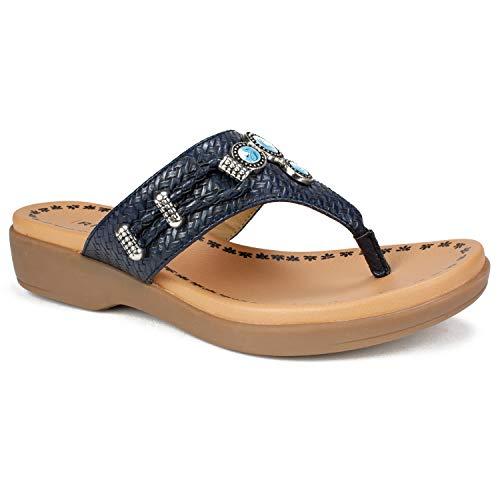 RIALTO Shoes BIANNA Women's Sandal, Black/Woven, 7H M
