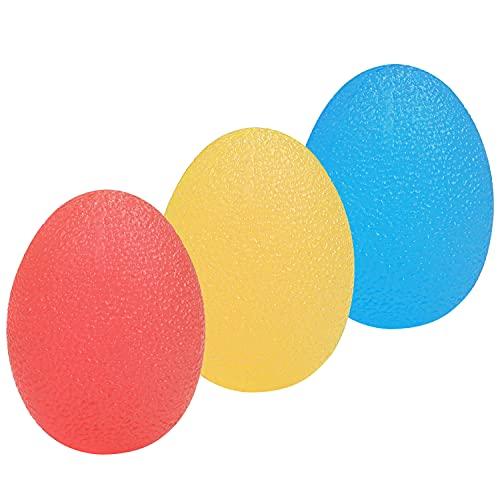 Kurtzy TPE Anti Stress Bälle Handtherapie mit 3 Widerstandsstufen (3er-Pack) Antistressball Erwachsene & Kinder für Stressabbau, Massage & Übungsstärkebälle - Anti stressball, Leicht, Mittel & Hart