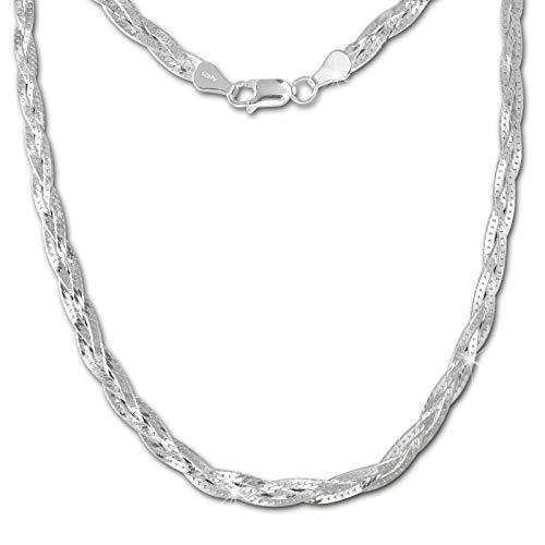 SilberDream Halskette silber Damen Echt Halsschmuck 50cm 925 Silber SDK28350J
