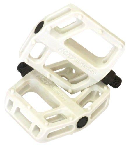 NC-17 Sudpin Zero Pro / Kunststoff Plattform Pedale / Fahrrad Pedale MTB und BMX / Kugellager + Cr-Mo Achse / widerstandsfähig, super leicht / feste Pins
