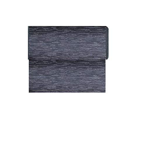 Exclusief Home Textiel vloerbedekking mat weerbestendig textieloppervlak zwart gemêleerd ca. 65 x 500 cm.