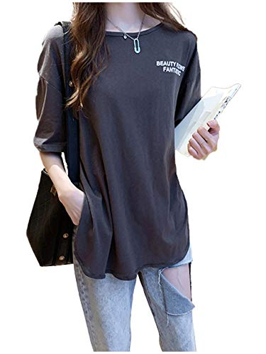 [ライオンガーデン] LG140 GY XL 灰色 グレー 灰 グレイ はいいろ 清楚 ビッグt tシャツ シャツ ブラウス ラウンドネック 3色展開 ビッグシルエット ゆるカジ オーバーサイズ ~ 2XL レディース カジュアル ビッグ オーバー 大きめ おおきめ 大きい おおきい 大 大きいサイズ サイズ 体型カバー 体形カバー 体形 カバー 体型 3色 清潔感 おしゃれ オシャレ すっきり