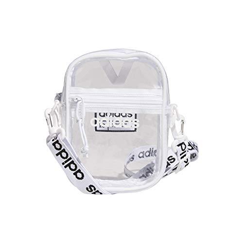 adidas Festival Crossbody Bag, Clear/White/Black