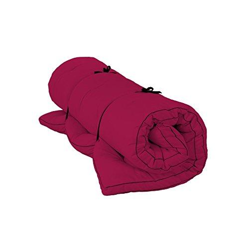 Shiatsu Futon Vegan 100{1b14c7dc428c2c6648af5ac773d9e96a669131a46525cc45611db119e9952aed} Baumwolle, Breite: 140 cm, Länge: 200 cm, Farbe: F200 Bordeaux