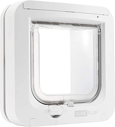 SureFlap - Sure Petcare Microchip Cat Flap, White, Scans Pet's ID Microchip on Entry