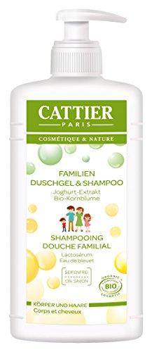 Cattier Family Duschgel 2 in 1 mit Joghurt-Extrakt, zertifizierte Naturkosmetik, 500 ml