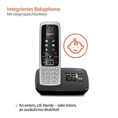 Gigaset C430A Trio Telefon – Schnurlostelefon / 3 Mobilteile – TFT-Farbdisplay / Dect-Telefon – mit Anrufbeantworter / Freisprechfunktion – Analog Telefon – Schwarz - 4