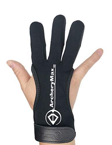 ArcheryMax Schießhandschuh 3 Finger Bogenschießen Handschuhe für Kinder/Jugend/Erwachsnen