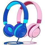 Mpow 2 Packs CHE1 Kids Headphones, Wired Headset for Kids Teens, Children Headphones