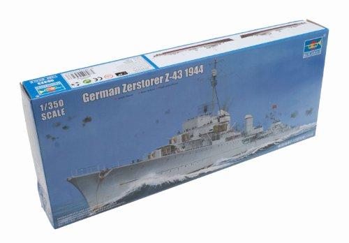 Trumpeter 05323 German Zerstörer Z-43, 1944 - Barco militar en miniatura (escala 1:350) [importado de Alemania]