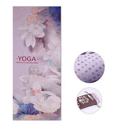 N / A Printed Yoga Mat Towel Microfiber Yoga Towel Silicone Non-slip Yoga Blanket Pilates Cushion Cover 183 * 63cm
