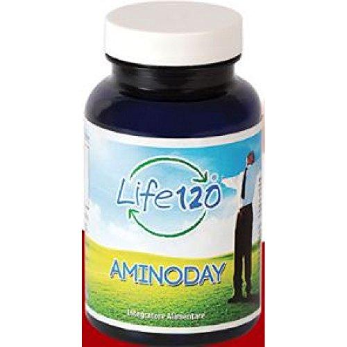 Aminoday di Life 120 | 90 Compresse Integratore Alimentare con 11 Aminoacidi e Acido Alfalipoico essenziali per la Muscolatura | Distributore Esclusivo OneLife