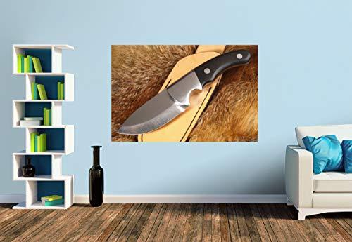 Premium Foto-Tapete Handgefertigtes Jagdmesser auf Fuchsfell (versch. Größen) (Size S | 186 x 124 cm) Design-Tapete, Wand-Tapete, Wand-Dekoration, Photo-Tapete, Markenqualität von ERFURT