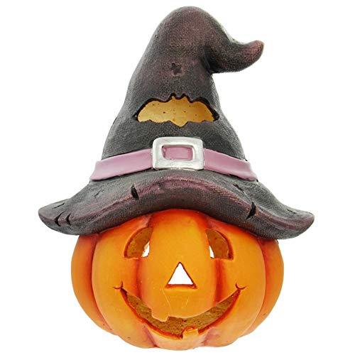 SIDCO Halloween Dekokürbis (Kürbis-Windlicht Hexenhut)