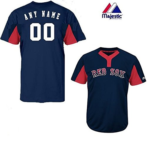 a59ec1de0 Majestic Navy Red 2-Button Cool-Base Boston Red Sox Blank or Custom