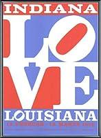 ポスター ロバート インディアナ Love louisiana 額装品 アルミ製ベーシックフレーム(ブラック)