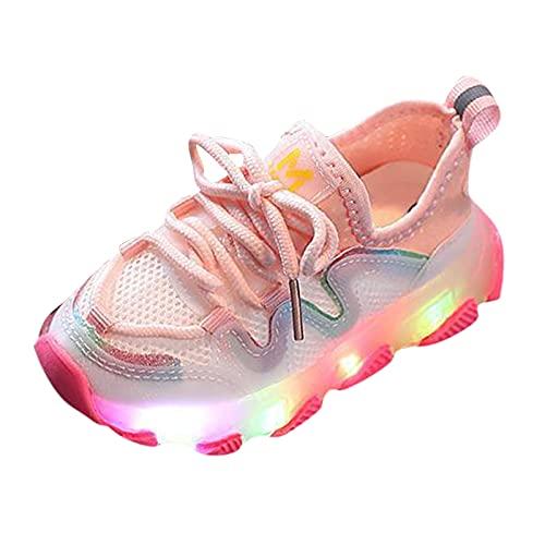 Fomino Turnschuhe Mädchen Jungen Baby Kinderschuhe LED Licht Leuchtend Blinkschuhe Sportschuhe Baby Unisex LED Sneaker Atmungsaktive Laufschuhe Trekkingsandalen Wanderer Schuhe