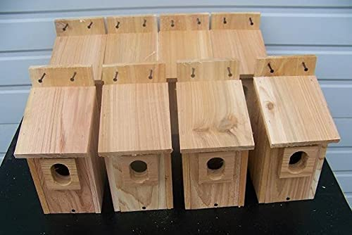 8 Bird Houses NEST Box Cedar with Peterson Oval Opening Poultry cage Hutch cage Poultry Hutch Poultry enclosures Pet cage Animal cage Cage Cover Cover Poultry Poultry Cages Aviary cage