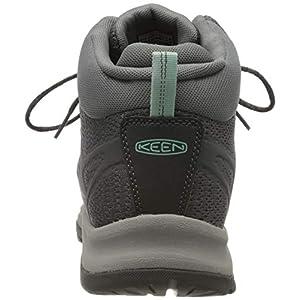 KEEN Women's Terradora 2 Waterproof Mid Height Hiking Boot, Magnet/Ocean Wave, 8 M (Medium) US