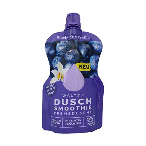 Duschsmoothie Blueberry-Vanilla, Set mit 6 Stück, Duschgel für Damen und Männer, mit echtem Fruchtextrakt, vegane Cremedusche, frei von Palmöl, umweltfreundliche Verpackung
