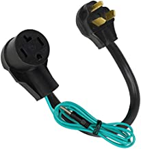 Dryer Plug Adapter 4 Prong to 3 Prong, Dryer Prong Adapter 4 to 3 Cord N10-30P to N14-30R, 1.5FT STW 10AWG/3 3 Prong Dryer Washer Cord, 30AMP, 250 Volt