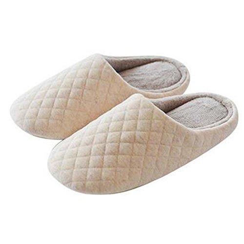 Japonais Mesdames hiver et chaleureux Chaussures Indoor Maison Slipper, Beige