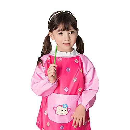 Malschürze mit langen Ärmeln, für Kinder, wasserdicht, für Kinder, mit langen Ärmeln, multifunktional und praktisch, Küchenschürze für 8 bis 10 Jahre