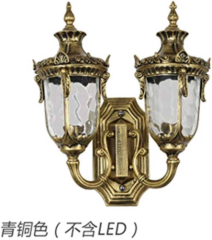 Wandleuchtebeleuchtunginnenbeleuchtungschlafzimmereuropische Doppelkopfwandlampe Wasserdichte Lampe, Hoflampe Im Freien, Antike Wandlampe Balkon Terrasse Flur Gang Bar Lampe