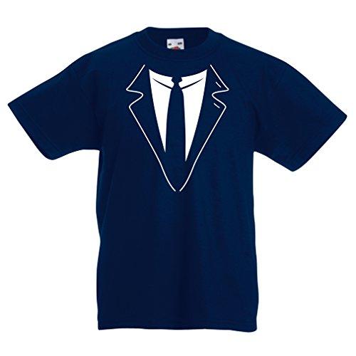N4591K La Camiseta de los niños The Big Boss (12-13 Years Azul Oscuro Multicolor)