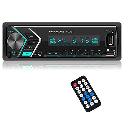 Car Stereo Car Stereo with Bluetooth Single din in Dash stereos for car, FM Car Radio Car Audio Support USB, SD Card ,AUX in, with Wireless Remote Control