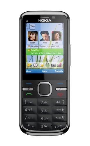 Nokia C5-00, 5MP , 1GHz, Handy, black EU ohne Simlock, ohne Branding, ohne Vertrag