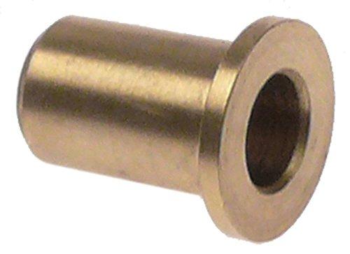 Horeca-Select Buchse für Türscharnier ø 14mm Innen ø 7mm D1 ø 10mm Messing Höhe 16,5mm