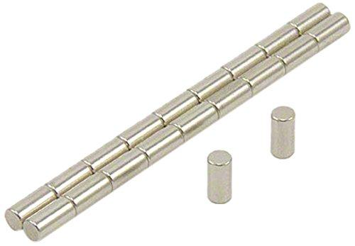 Magnet Expert 3 mm de diamètre x 6 mm d'épaisseur N42 Néodyme Aimant - 0.39 kg Pull (paquet de 20)
