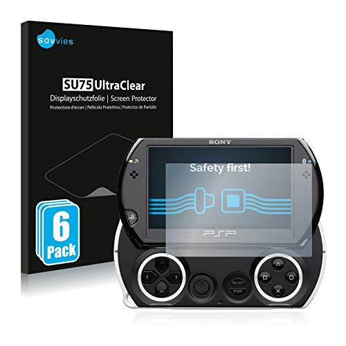 savvies 6-Pezzi Pellicola Protettiva Compatibile con Sony PSP Go Protezione Schermo Trasparente
