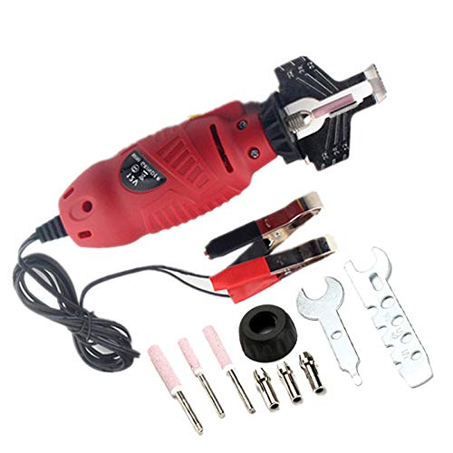 Lanceasy Motosega Elettrica Grinder, 12V Catena Affilacatene Motosega Elettrica Smerigliatrice File PRO Tools